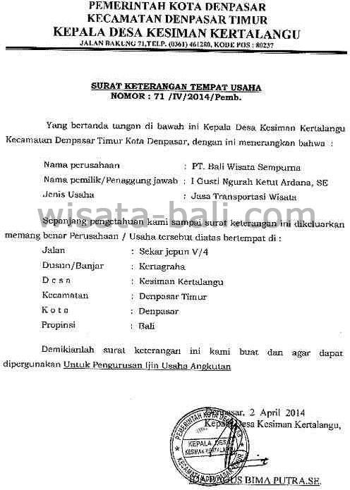 Ijin Usaha Paket Wisata Ke Bali Paket Tour Bali Paket